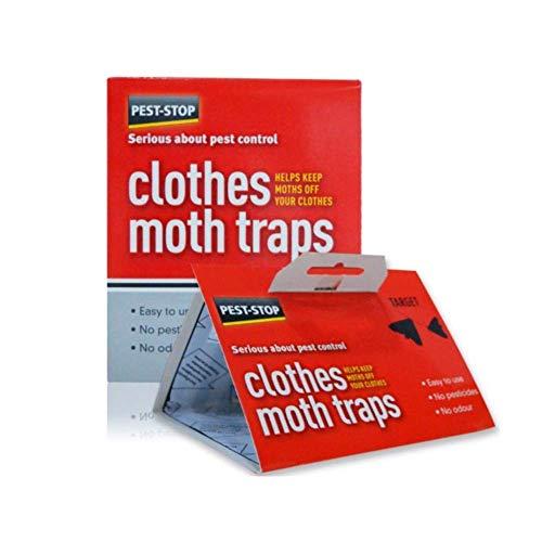 Rc Ocio Trampa para Polillas de la Ropa, Protege Tus armarios de Insecto. Sin venenos, olores Trampa por feromonas. 100% Segura y eficaz. Pack de 2 trampas