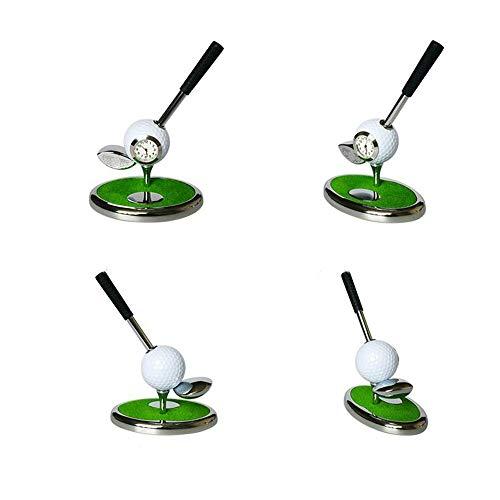 chuhr Zinklegierung Golf Kugelschreiber & Halter Golf Geschenkset (Holzstange) Golf Dekorationen Schreibtisch Geschenke dauerhaft (Farbe : C2, Größe : No.1 Wood) ()