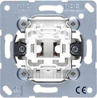 JUNG 533-2U Aluminio interruptor de luz - Interruptores de luz (Botones, Aluminio,...
