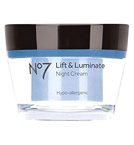 No 7 Lift and Luminate Night Cream 50ml Tub