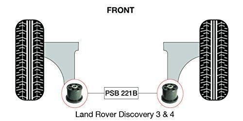 PSB polyuréthane Bush Discovery 3 & 4 inférieur avant bras arrière bushing kit - 2005-2015 (PSB 221B)