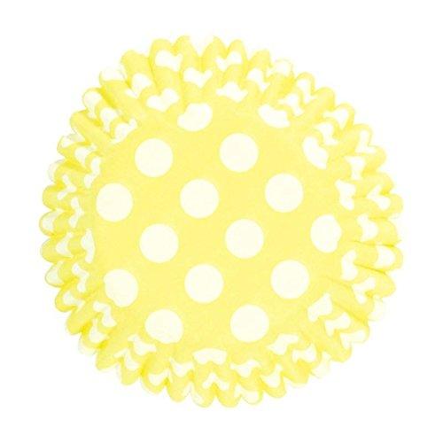 Pastel Yellow Polka Dot Cupcake Cases