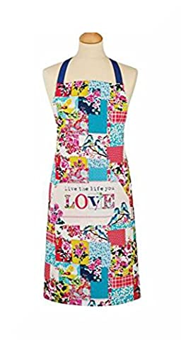 100% Cotton Apron with Large Front Pocket by Cooksmart & Free Gift (Oriental Patchwork) by
