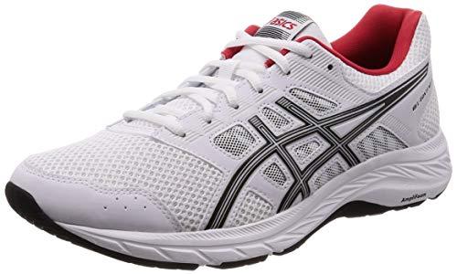 ASICS Gel-Contend 5, Scarpe da Running Uomo, Bianco (White/Black 100), 42.5 EU