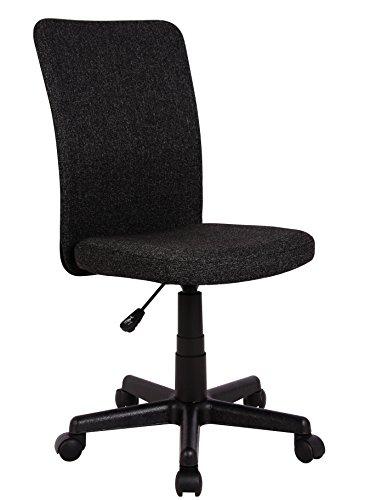SixBros. Bürostuhl Drehstuhl Schreibtischstuhl Stoffbezug Schwarz H-2578/2495