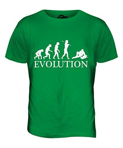 CandyMix Laptop Notebook Evolution Des Menschen Herren T Shirt Grün