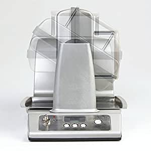 À rotation automatique à gaufrier en acier inoxydable avec système automatique rotationprogramm-crisp-mode-minuteur autoStandBy épais pour gaufres 1400Watt!-forte-neuf & emballage d'origine.