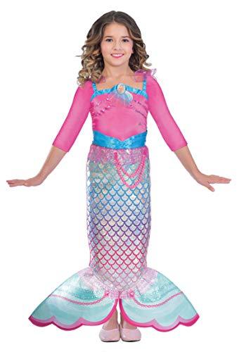 Fisch Kostüm Regenbogen Der - Amscan 9903280 Kinderkostüm Barbie Regenbogen Meerjungfrau, 3-5 Jahre