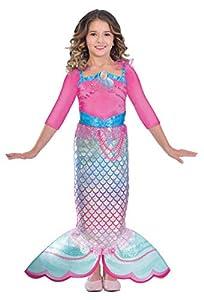 Amscan 9903280 - Disfraz de sirena arco iris, para niñas, color no sólido