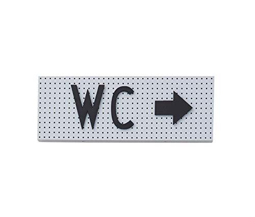 Design Letters Das Zeichen, kleines Anschlagbrett - Grau -