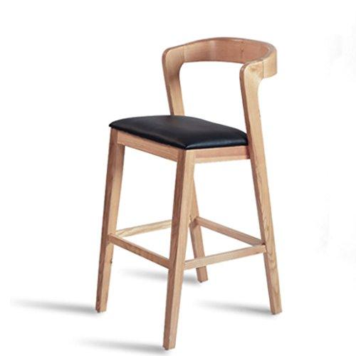 GTD Barhocker Barstuhl Hocker Stühle Sofas Barhocker Massivholz Barstuhl Haushaltsbarstuhl Kreativ zurück zu Hochstuhl Kaffee Barhocker stühlen (Color : Yellow) -