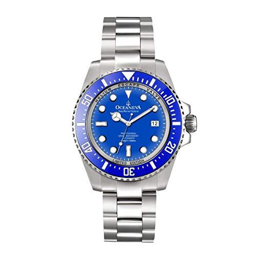 Explorer Marine (OceanevaTM Deep Marine Explorer 1000M Pro Taucheruhr Blau)