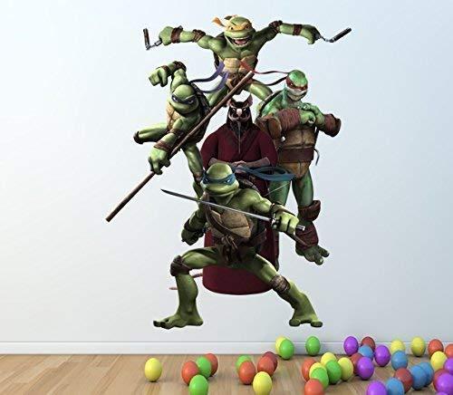 1Stop Graphics Shop Teenage Mutant Ninja Turtle volle Farbe Wandaufkleber - Mädchen Jungen Schlafzimmer C241 - Large: 60 cm x 76 cm