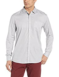 Parx Mens Casual Shirt (8907576138538_XMSS06045-K2_40_Black)