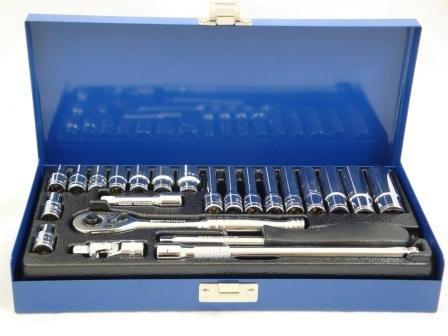 Preisvergleich Produktbild Toolzone 24pc 0.64 cm CRV Steckschlüsselsatz poliert