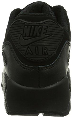 Nike Air Max 90 Gs 307793 Unisex-Kinder Low-Top Sneaker Schwarz (Schwarz)