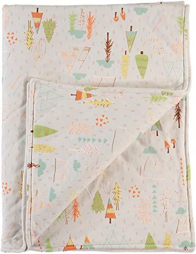 Soulwell Baby Bio-Baumwolle gesteppte Decke - super weiche niedliche bunte Cartoony glatt Premium Qualität GOTS zertifiziert hypoallergene Mehrzweck Kinderzimmer Bettwäsche gesteppte Decke 110 x 84 cm
