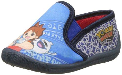 Yokai Watch Jungen Boys Kids Slipon Houseshoes unten, Bleu (White/C.Blue/Navy), 24 EU