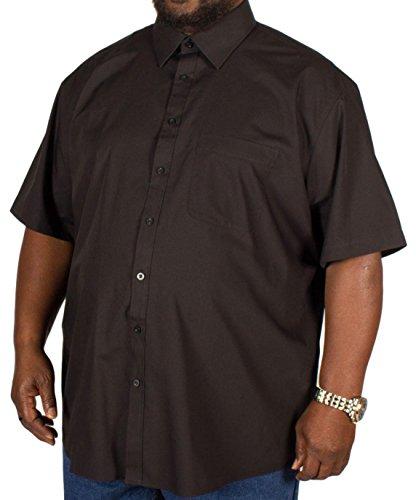Camisa Metaphor para hombre, de manga corta, de color negro liso y disponible en tallas grandes: 3XL, 4XL, 5XL, 6XL, 7XL y 8XL Negro negro XXXXXX-Large