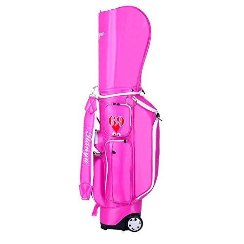 KIKIRon-SOG Cart Trolley Golftasche Leichte Golf Stand Bag wasserdichte Golf Carry Bag Große Kapazität Golf Club Bag mit großen Rädern Golf Stand Bag (Farbe : C1, Größe : 128 * 25 * 40cm)