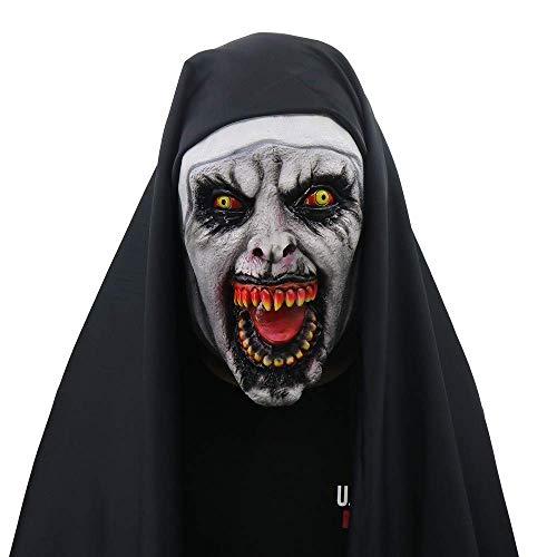 CANE Halloween Requisiten Latex Magie Nonnen Horror Masken Mit Kostümen Gruseliges - Nonne Kostüm Mit Maske