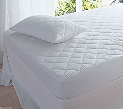 Quilted mattress protector polycotton new bedding - low-cost UK light store.