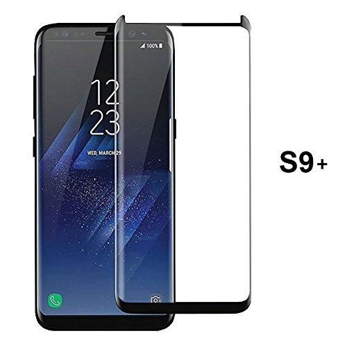 [PfX] Samsung Galaxy S9 PLUS Full-Display Panzerglas Schutzfolie mit 3D Touch Kompatibilität mit Zubehör für die Installation - Galaxy S9+ Panzerglas, voll transparent und sicher