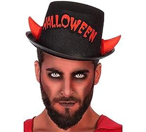 Atosa 57683 Sombrero Halloween Unisex - Adulto Negro/Rojo