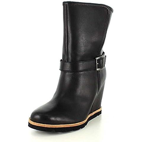 UGG - W ELLECIA 1013032 Negro - Botines con cuña media negros