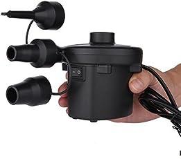 GosFrid AC Electric Vacuum Air Pump Quick Inflates and Deflates Sofa, Bed, Mattresses (Black)