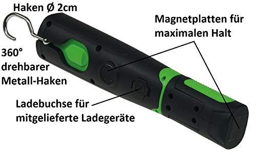 LED Akku Stablampe 160 LED, 12 und 230 V Ladegerät - 5