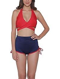 Clovia Women's Padded Halter Top & Bikini Swimsuit