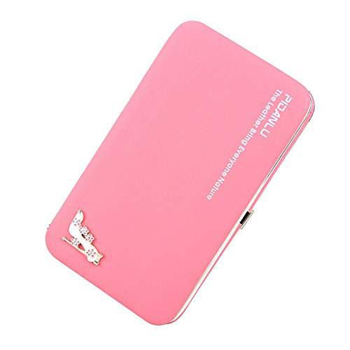 Ulisc Women High Heels Cute Wallet Long Creative Female Card Holder Casual Zip Ladies Clutch PU Leather Coin Purse ID Holder (Womens Casual Heels Heel)