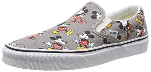 Vans U CLASSIC SLIP-ON DISNEY Sneaker, Unisex Adulto, Multicolore (Disney/Mickey Mouse/Frost Gray), 37