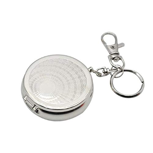 ghfcffdghrdshdfh Portable Pocket Ashtray/Vehicle Cigarette Ashtray Mini Stainless Steel Ashtray with Key Chain and Cigarette Snuffer - Portable Push-button