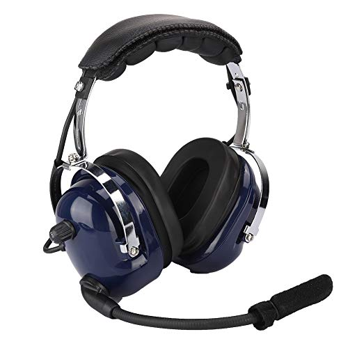 Garsent Aviation Headset, Geräuschunterdrückung Over Ear Kopfhörer mit Mikrofon, 3,5 mm Noise Cancelling Headset für Flugzeug Noise Cancelling Aviation Headsets