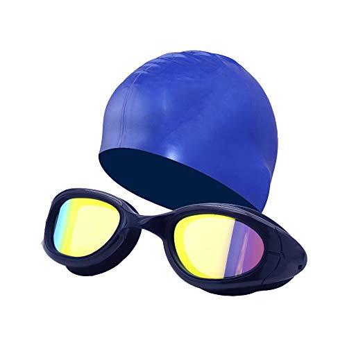 XUELIANG Schwimmbrille Anti-Fog UV-Schutz Beschichtete Linse Kein Auslaufen mit Nasenklemme, Ohrstöpsel, Etui für Männer, Frauen, Erwachsene