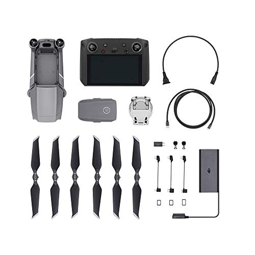 "DJI Mavic 2 Pro Drohne + Smart Fernsteuerung (5.5"" Display) Combo Quadrocopter mit Hasselblad Kamera HDR Video Variable Blendenöffnung 20MP 1"" CMOS Sensor (EU Version)"