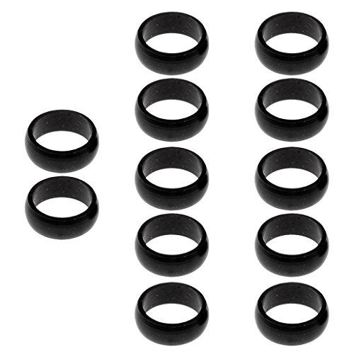 *Sharplace 12pcs Aluminium O-Ringe Schaftringe Schutzringe für Dart, Schwarz*