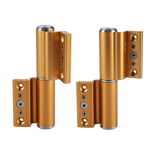 Bisagra de soporte hidráulico para gabinete, de 5 pulgadas, silencioso, con amortiguador hidráulico, apertura automática a la izquierda, bisagra, cierre de puerta, color arena, color dorado