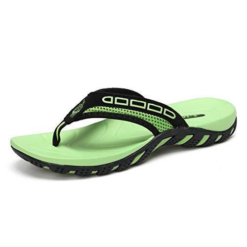 Sixspace Unisex-Erwachsene Zehentrenner Flip Pantoffeln für Damen Herren Kinder,Leuchtendes Grün 39 EU