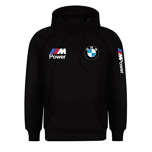 Men's BMW M Power Beamer Motorsport M Sport Hoodie Jumper Top (Small) Black