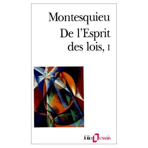 DE L'ESPRIT DES LOIS. 1