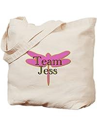 CafePress - Team Jess Gilmore Girls - Natural Canvas Tote Bag, Cloth Shopping Bag