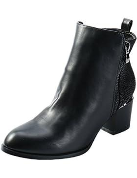 [Sponsorizzato]Alexis Leroy Pointed Toe Stivali da Inverno con tacco e zip donna