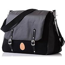PacaPod Prescott de color negro Funda de bebé para bolsa de polipiel cambiadora de - venda de bestdeal en color negro bandolera de pintura para dibujo 3-diseño con motivos geométricos-1 sistema de organizar cables