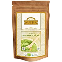 Ausha Organic Moringa Powder 200g (Premium Quality Organic Moringa Oleifera Leaf powder) (A Super Food High In Minerals & Vitamins)