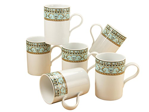 Creatable 13656 Serie Majestosa, Kaffeebecher Set 6-teilig Porzellan, mehrfarbig, 24 x 29 x 14 cm