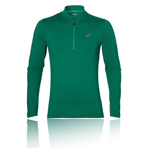 Asics Herren Long Sleeve 1/2 Zip Langarmshirt Grün (jungle green heather)
