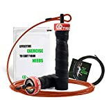 Boxen Springseil - Speed Rope Springseil Sport mit Profi Kugellager & Anti-Rutsch Griffe - Ideal für Boxen, MMA, Crossfit, HIIT, Intervalltraining & Double Unders
